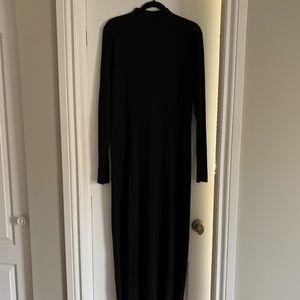 Black COS jersey long sleeve mock neck dress